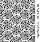 seamless ethnic pattern with... | Shutterstock .eps vector #507189943