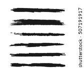 set of brush strokes. grunge.... | Shutterstock .eps vector #507191917
