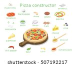 vector isometric set of... | Shutterstock .eps vector #507192217