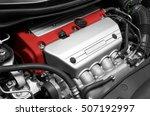 car engine. close up detail | Shutterstock . vector #507192997