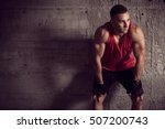 muscular young athletic built... | Shutterstock . vector #507200743