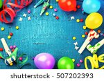 Colorful Birthday Frame With...