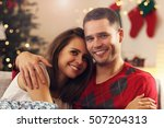 picture of young couple hugging ... | Shutterstock . vector #507204313