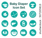 diaper characteristics icons.... | Shutterstock .eps vector #507205813