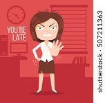 Angry Boss Woman Character....
