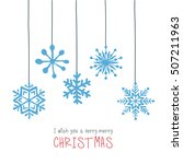 christmas background with... | Shutterstock .eps vector #507211963