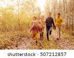 Large Group Of Children Runnin...