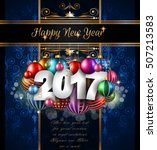 2017 happy new year background... | Shutterstock .eps vector #507213583