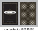 christmas greeting card or... | Shutterstock .eps vector #507213733