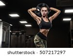 fitness girl exercising with... | Shutterstock . vector #507217297