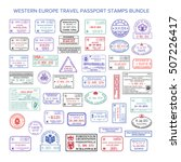 vector western europe colour... | Shutterstock .eps vector #507226417