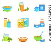 baby food and products set of... | Shutterstock .eps vector #507229033