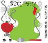 bbq party invitation with... | Shutterstock .eps vector #50724415