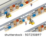 warehouse storage isometrics ... | Shutterstock .eps vector #507250897