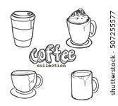 coffee elements  coffee... | Shutterstock .eps vector #507255577