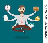 businessman with multitasking...   Shutterstock .eps vector #507257473