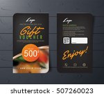 gift voucher template with... | Shutterstock .eps vector #507260023