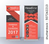 roll up banner template design... | Shutterstock .eps vector #507262213