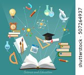 education infographics open... | Shutterstock .eps vector #507264937