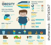 obesity infographic template  ... | Shutterstock .eps vector #507265267