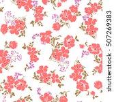 flower pattern illustration | Shutterstock .eps vector #507269383