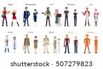 different professions set.... | Shutterstock .eps vector #507279823