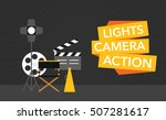 cinema flat template background ... | Shutterstock .eps vector #507281617