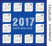 2017 year office calendar.... | Shutterstock .eps vector #507287413