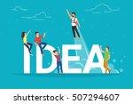 idea concept illustration of... | Shutterstock . vector #507294607
