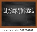 Small photo of ADVERTORIAL hand writing chalk text on black chalkboard