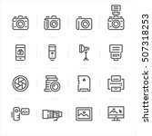 camera icons with white... | Shutterstock .eps vector #507318253