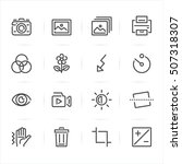 photography and function icons... | Shutterstock .eps vector #507318307
