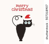 merry christmas   cute funny... | Shutterstock .eps vector #507318907
