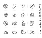 ecology icons with white... | Shutterstock .eps vector #507324697