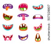 cute animal face expressions...   Shutterstock .eps vector #507328807