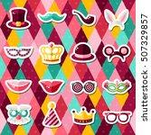 set of carnival masks on... | Shutterstock .eps vector #507329857