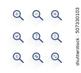search zoom icon set on the...