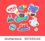 set of christmas stickers....   Shutterstock .eps vector #507335143