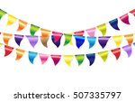 bunting flags  vector... | Shutterstock .eps vector #507335797