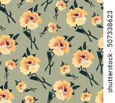 floral seamless pattern with... | Shutterstock .eps vector #507338623