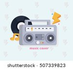 music concept with music tools... | Shutterstock .eps vector #507339823