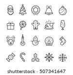 christmas icons | Shutterstock .eps vector #507341647