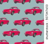 Seamless Pattern With Red Cars...