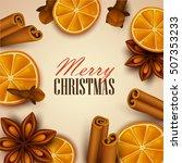 christmas background. vector... | Shutterstock .eps vector #507353233