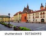 small empty market square in... | Shutterstock . vector #507360493