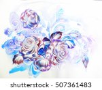 Flowers Rose One Stroke Painting