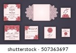 vintage wedding invitation... | Shutterstock .eps vector #507363697
