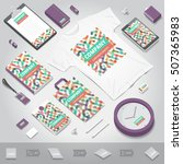 corporate identity stationery... | Shutterstock .eps vector #507365983