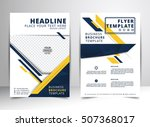 abstract vector modern flyers... | Shutterstock .eps vector #507368017