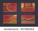 business card or visiting card... | Shutterstock .eps vector #507382063